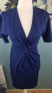 June & Hudson Blue Midi Dress Size S